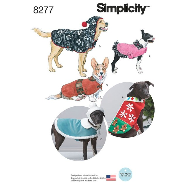 Sewing Patterns For Dogs Fleece Dog Coats And Hats In Three Sizes Simplicity Sewing Pattern