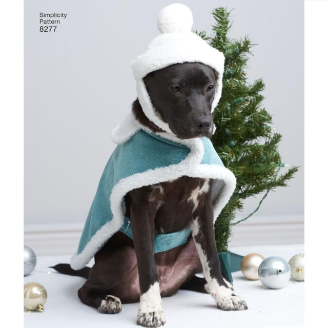 Sewing Patterns For Dogs Simplicity Sewing Pattern Dog Coats Hats In 3 Sizes 8277