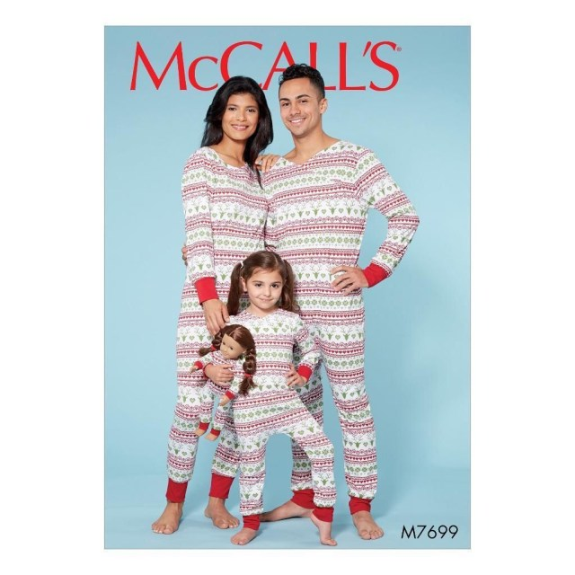 Sewing Patterns For Kids Mccall S Sewing Pattern Kids Adults Sleepwear Jumpsuits Kids 3 8 Adt