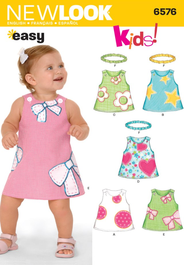 Sewing Patterns For Kids New Look 6576 Babies Dress Sewing Pattern