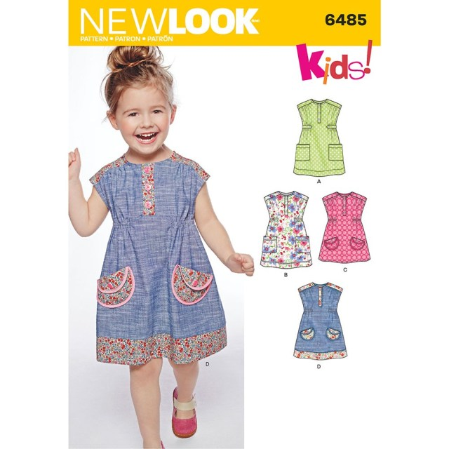 Sewing Patterns For Kids Toddlers Dress Or Tunic New Look Sewing Pattern 6485 Sew Essential