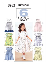 Sewing Patterns Girls B3762 Butterick Patterns Childrens And Girls Empire Waist