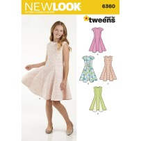 Sewing Patterns Girls New Look Girls Dress Sewing Pattern 6360 Hobcraft