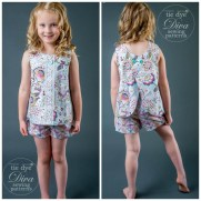 Sewing Patterns Girls Open Back Top Pattern For Girls Sizes 2 To 910 Tie Dye Diva