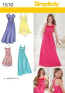 Sewing Patterns Girls Simplicity 1510 Girls Girls Plus Special Occasion Dress