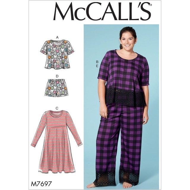 Sewing Patterns Plus Size Misses And Plus Size Lounge Tops Dress Shorts And Trousers Mccalls