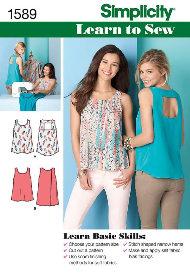 Sewing Patterns Simplicity Simplicity 1589 Misses Tops