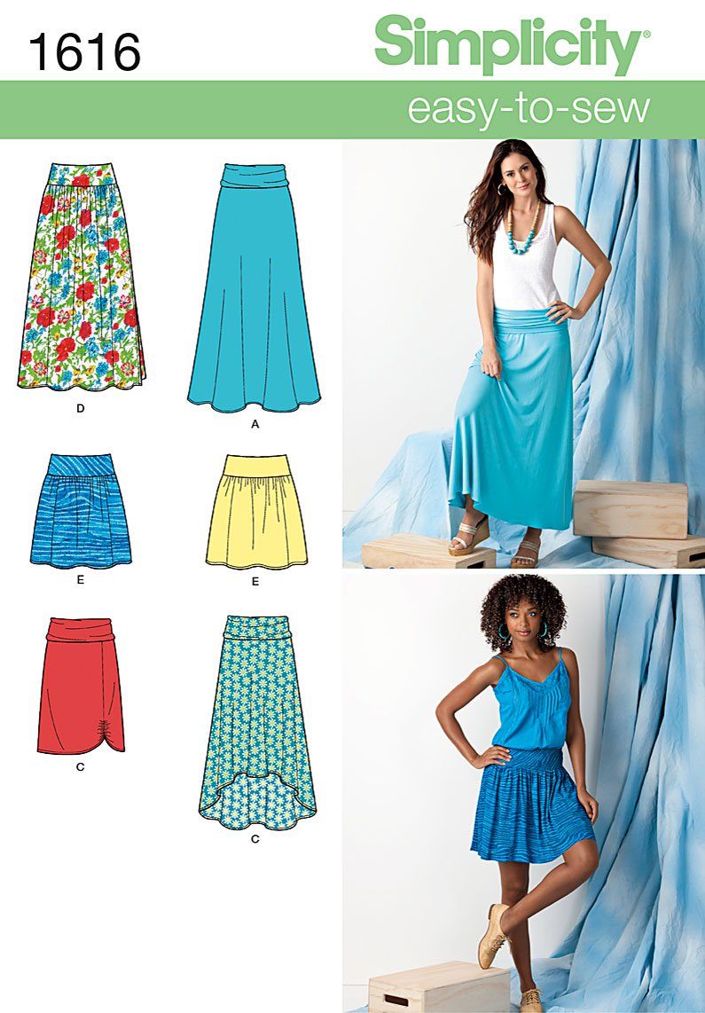 Sewing Patterns Simplicity Simplicity 1616 Misses Skirts