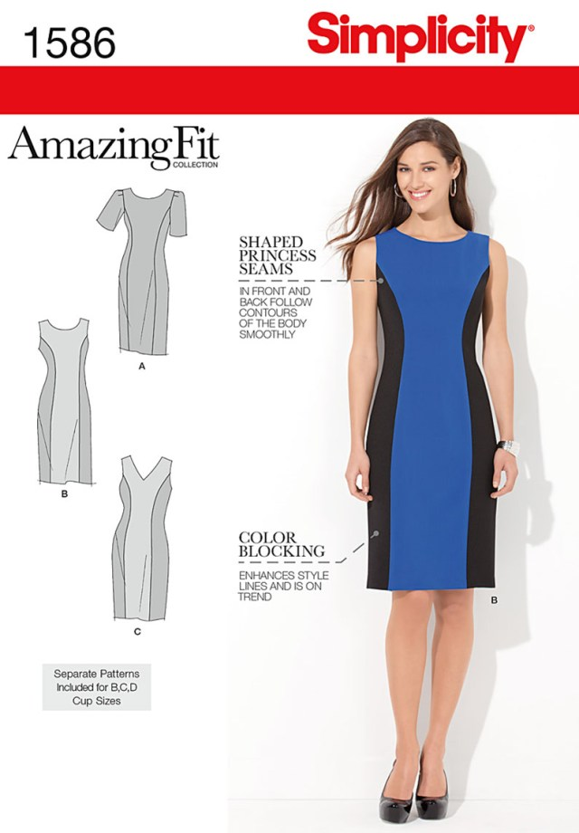 Sewing Patterns Simplicity Simplicity Amazing Fit Missesplus Size Sewing Pattern 1586 Dress