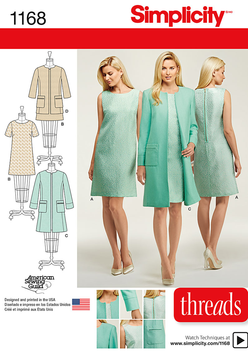 Sewing Patterns Simplicity Simplicity Pattern 1168 Giveaway Threads