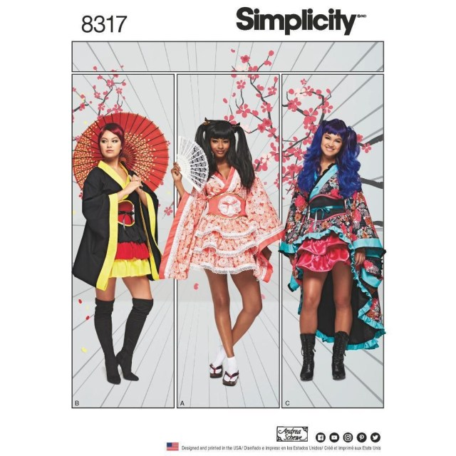 Sewing Patterns Simplicity Simplicity Sewing Pattern Misses Geisha Costumes Kimono Size 6 24 8317