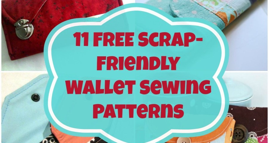 Sewing Wallet Pattern Free 11 Free Wallet Sewing Patterns All Scrap Friendly Easy To Sew With