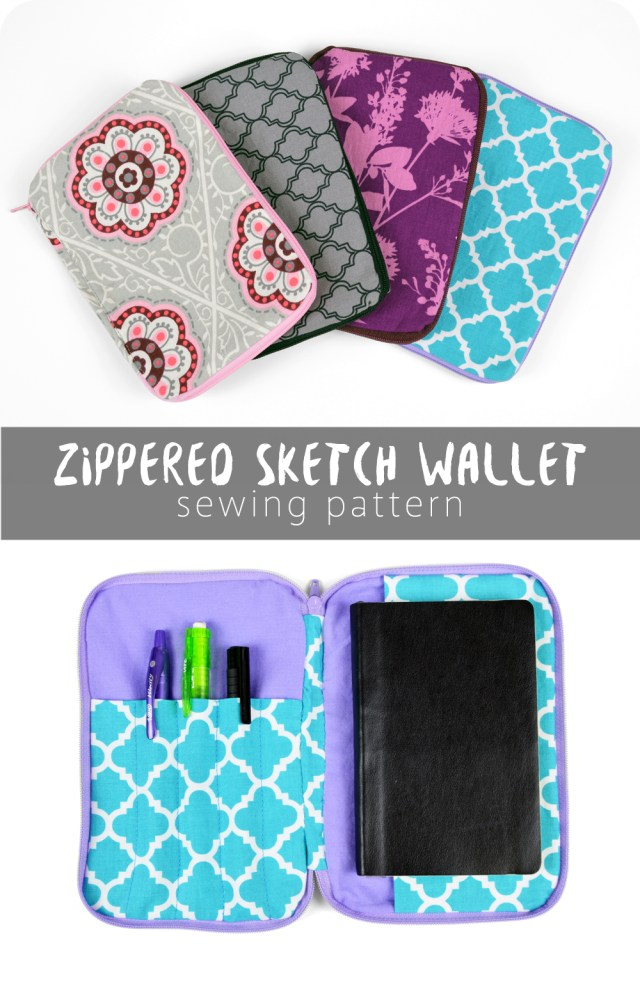 Sewing Wallet Pattern Free Free Pattern Friday Zippered Sketch Wallet Choly Knight