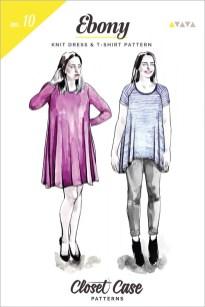 Shirt Sewing Pattern Ebony Knit Dress T Shirt Sewing Pattern From Closet Case Patterns