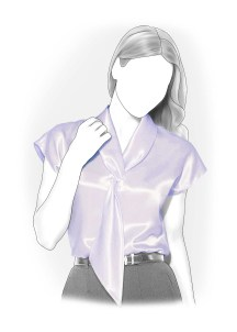 Shirt Sewing Pattern Womens Blouse With Tie Collar Sewing Pattern 4075 Made To Measure