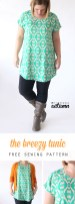 Shirt Sewing Pattern Womens The Breezy Tee Tunic Free Sewing Pattern Its Always Autumn