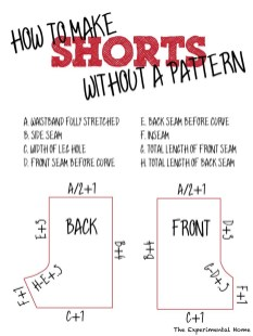 Shorts Sewing Pattern Make A Pattern From Existing Shorts Without Taking Them Apart