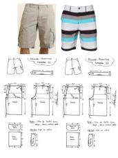 Shorts Sewing Pattern Mens Cargo Shorts Board Shorts Swim Pattern Sewing Pinterest