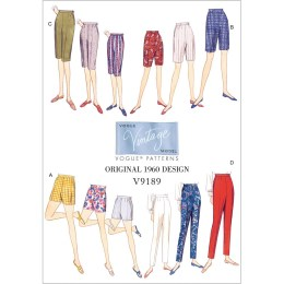 Shorts Sewing Pattern Misses Shorts And Tapered Trousers Vogue Sewing Pattern 9189 Sew