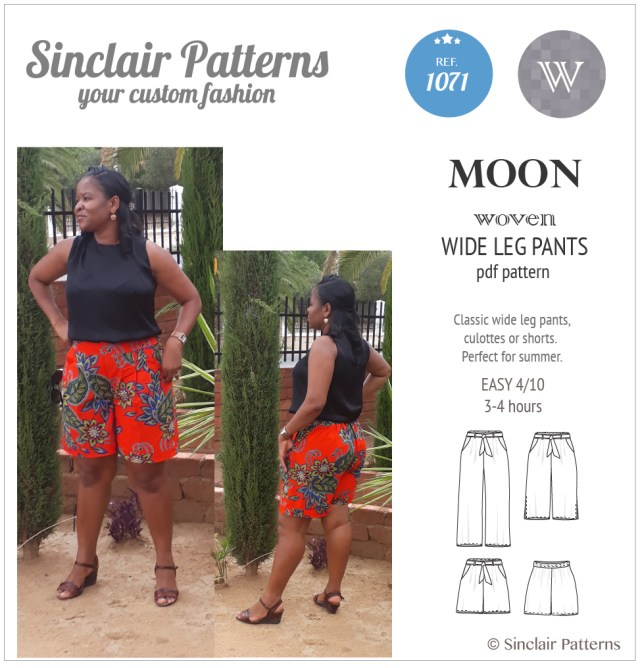 Shorts Sewing Pattern Moon Wide Leg Pants Culottes Or Shorts Pdf Sinclair Patterns