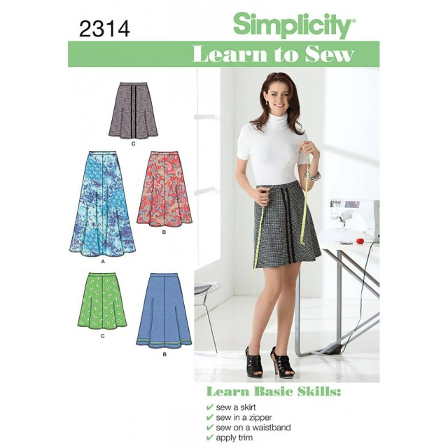 Skirt Sewing Patterns Simplicity Learn To Sew Ladies Skirt Sewing Pattern 2314 Hobcraft