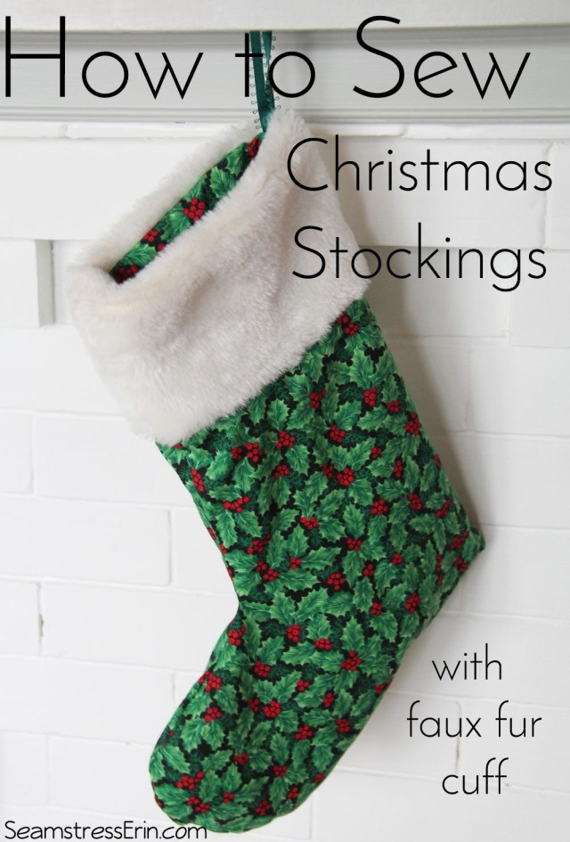 Stocking Sewing Pattern How To Sew Christmas Stockings With A Faux Fur Cuff Make It