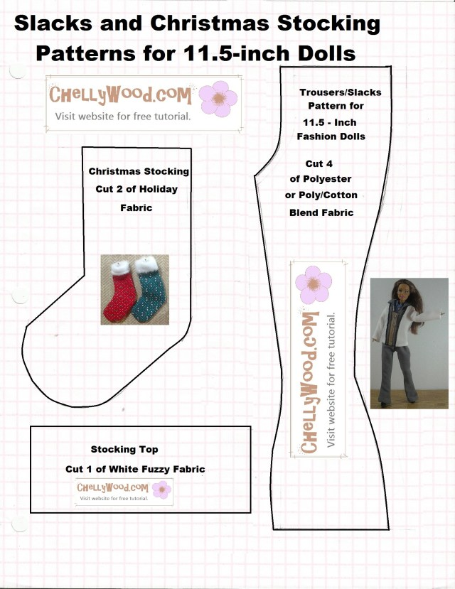 Stocking Sewing Pattern Pattern For Making A Miniature Holiday Stocking Is Free