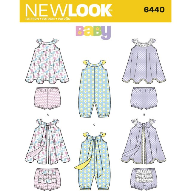 Sundress Sewing Patterns New Look Babies Romper And Sundress Sewing Pattern 6440 Hobcraft
