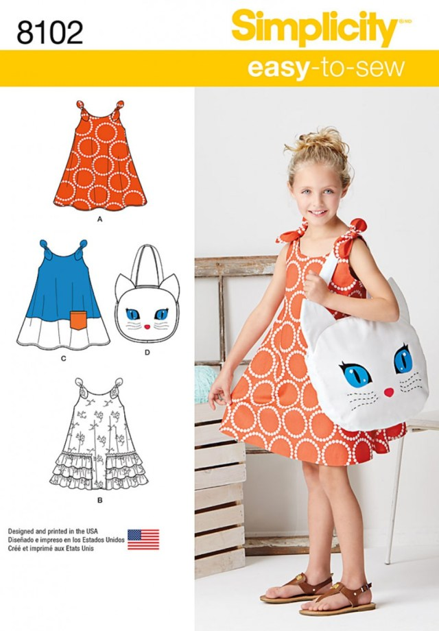 Sundress Sewing Patterns Simplicity Sewing Pattern 8102 Childs Easy To Sew Sundress And