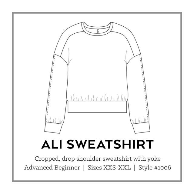 Sweater Pattern Sewing Ali Sweatshirt Pdf Pattern Sew Diy