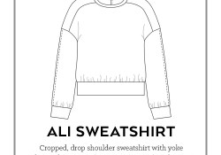Sweater Pattern Sewing Ali Sweatshirt Pdf Pattern Sew Diy
