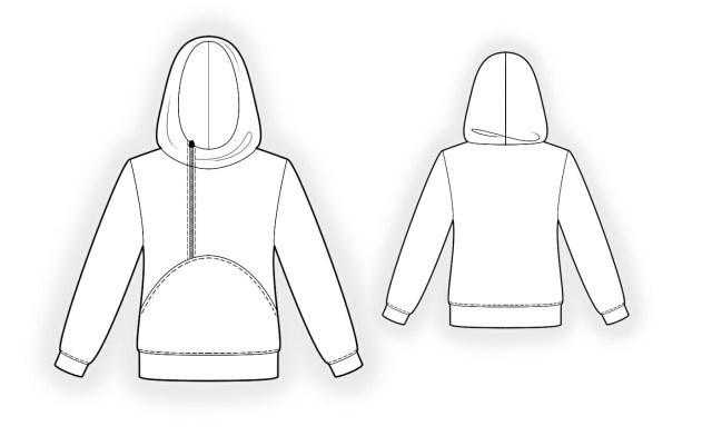 Sweatshirt Sewing Pattern Hoodie Sewing Pattern 4341 Made To Measure Sewing Pattern From
