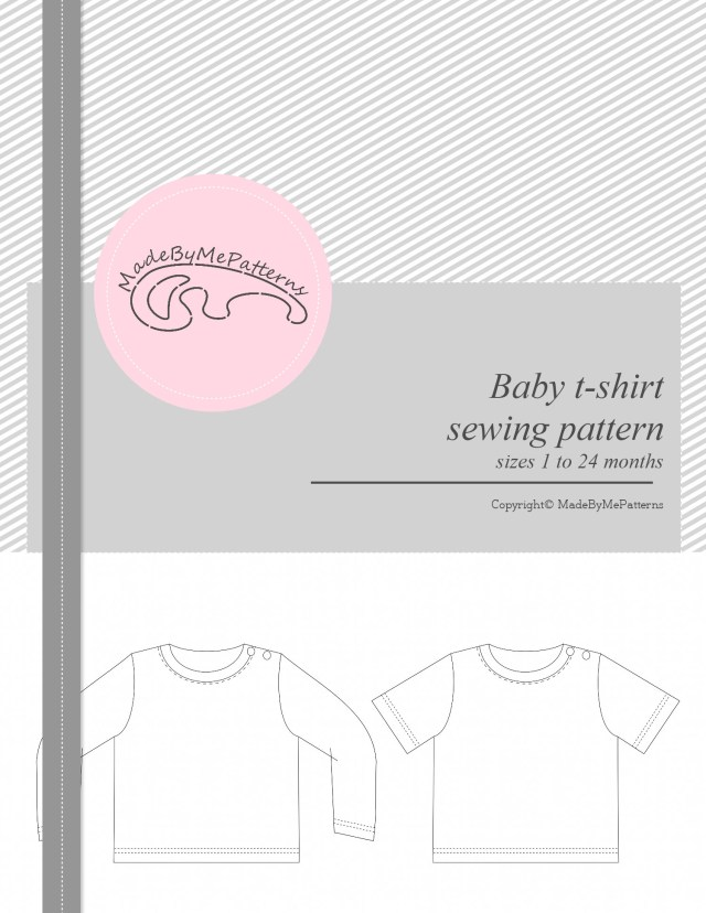 T Shirt Sewing Pattern Ba T Shirt Pattern Pdf Ba Sewing Patterns
