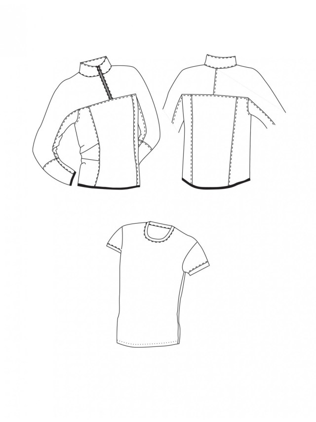 T Shirt Sewing Pattern T Shirt And Half Zip Fleece Pullover Sewing Pinterest Sewing