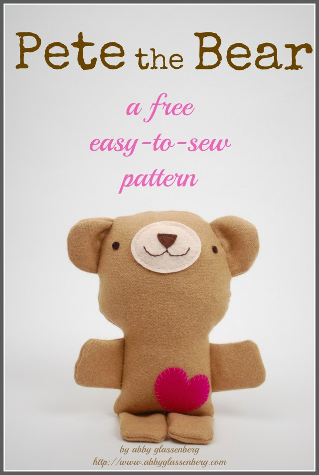 Teddy Bear Sewing Pattern Free Teddy Bear Sewing Pattern Pete The Bear Whileshenaps