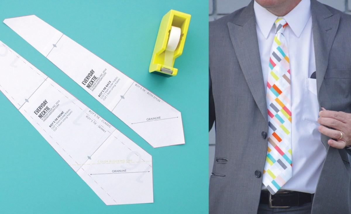 Tie Sewing Pattern Everyday Neckties Made Everyday