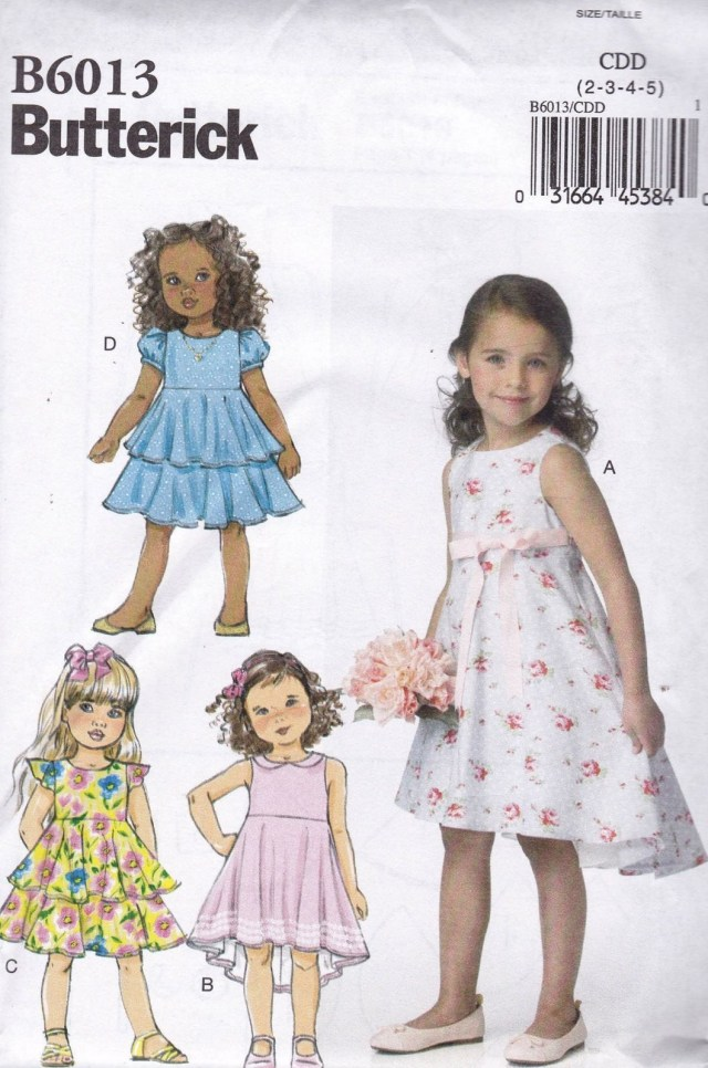 Toddler Sewing Patterns Butterick Sewing Pattern Children S Girls Dress Sizes 6 8 B6013