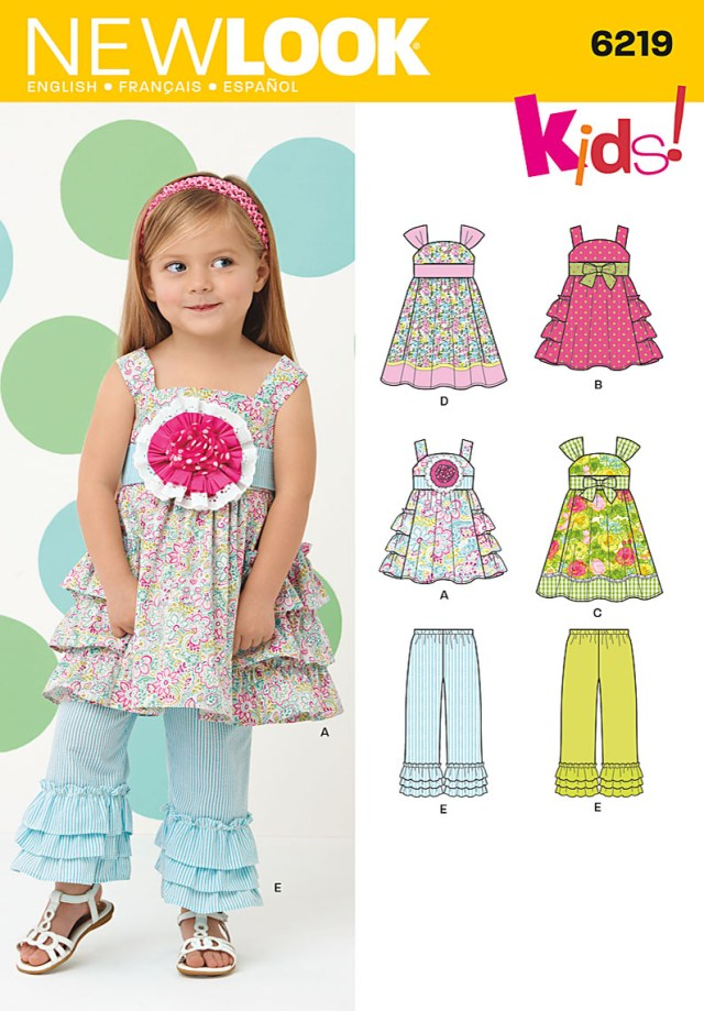 Toddler Sewing Patterns New Look 6219 Toddlers Dress