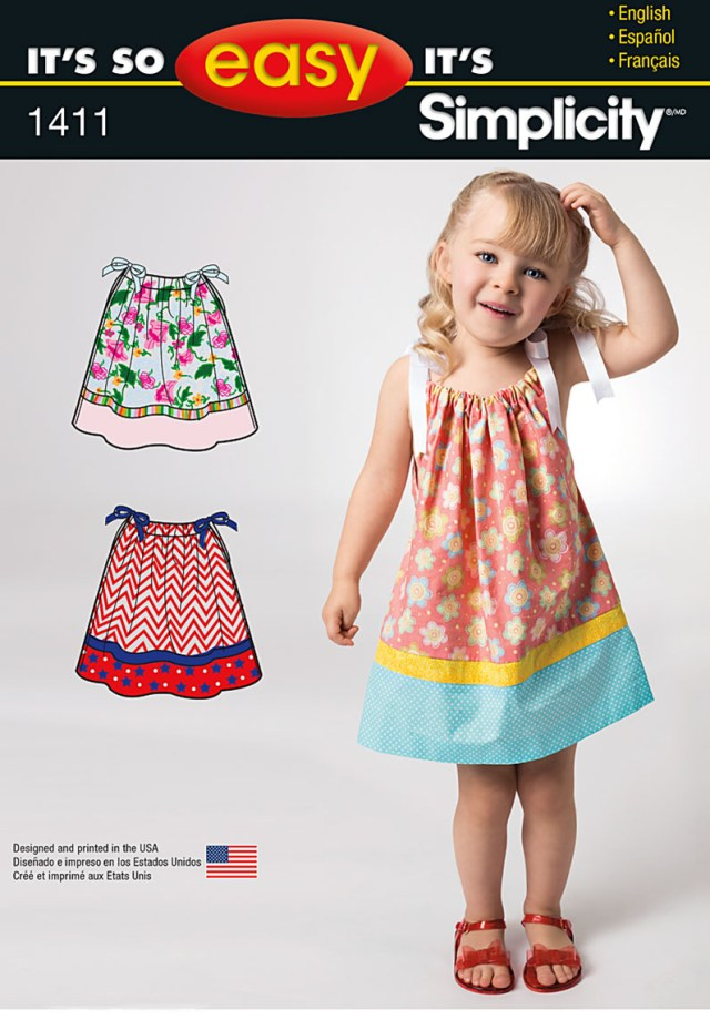 Toddler Sewing Patterns Simplicity 1411 Its So Easy Toddlers Dress