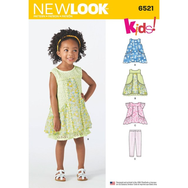 Toddler Sewing Patterns Toddler Dress Tunic And Trousers New Look Sewing Pattern 6521 Sew