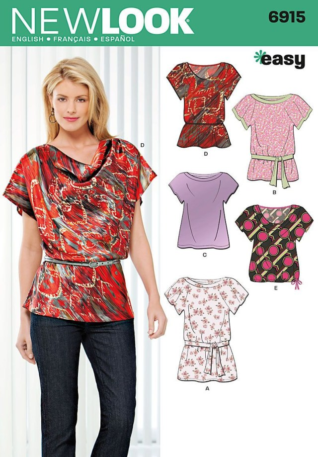 7da4795322e27 Top Pattern Sewing Blouses Sewing Pattern Tops Summer Blouses Women Girls  New Look Simplicity
