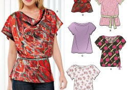Top Pattern Sewing Blouses Sewing Pattern Tops Summer Blouses Women Girls New Look Simplicity