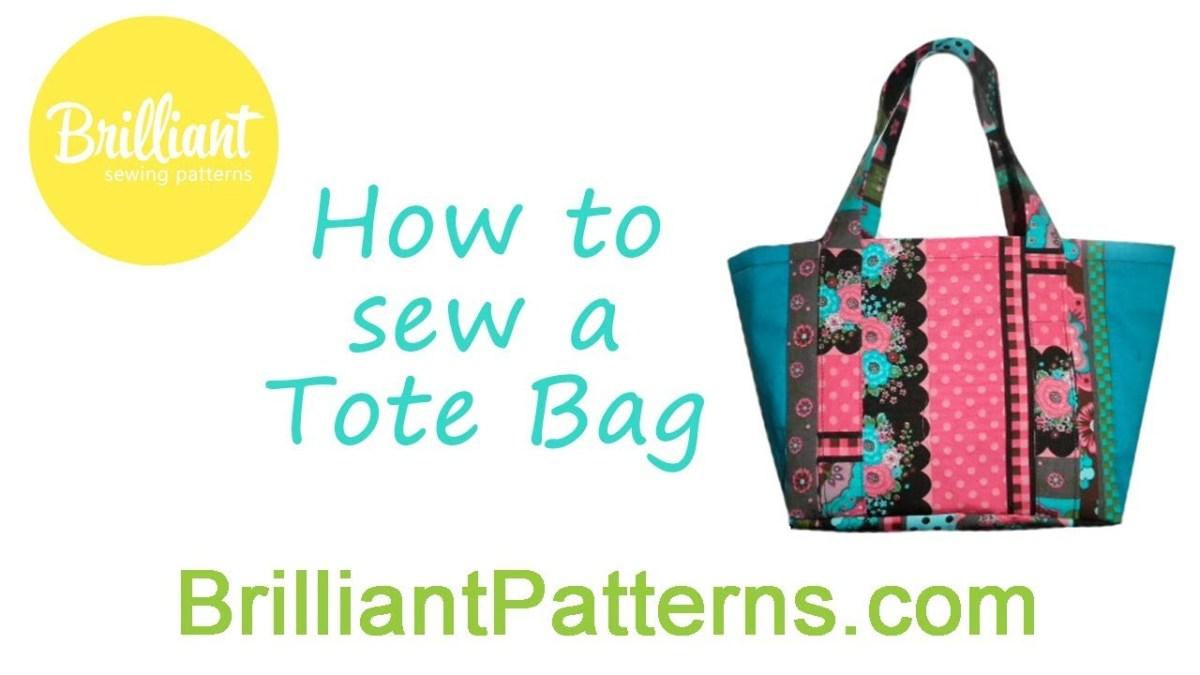 Tote Bag Sewing Pattern Diy Tote Bag Beginners Sewing Tutorial Designed Brilliant