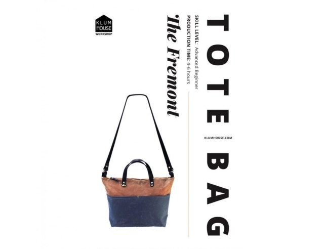 Tote Bag Sewing Pattern Klum House The Fremont Tote Bag Sewing Pattern Harts Fabric