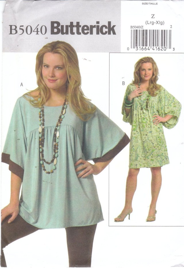 Tunic Sewing Pattern Easy Sewing Pattern For Womens Plus Size Loose Fitting Pullover