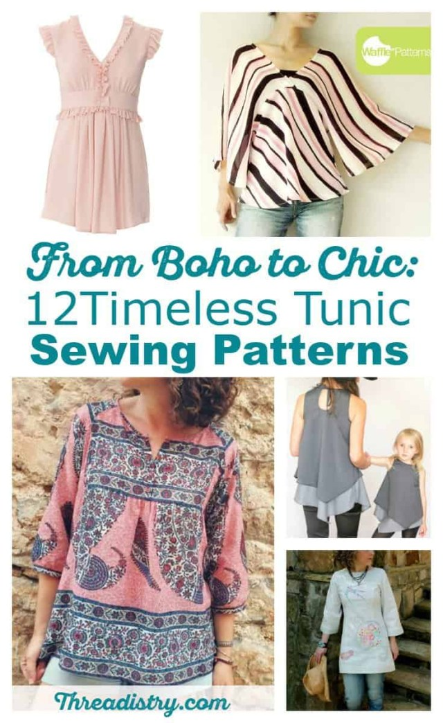 Tunic Sewing Pattern From Boho To Chic 12 Timeless Tunic Sewing Patterns