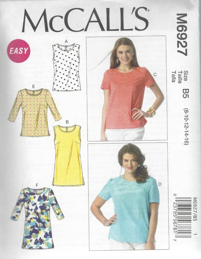 Tunic Sewing Pattern Mccall S Sewing Pattern Misses Women S Top And Tunics Size 8 24w M6927