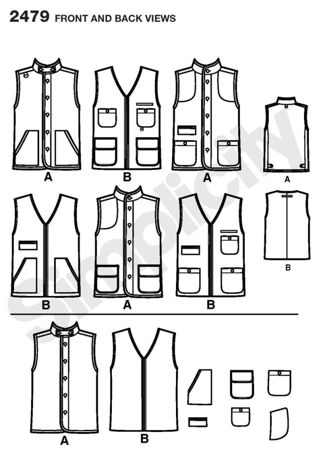 Vest Pattern Sewing 2479 Hunting Vest My Pattern Stash Pinterest Vest Pattern