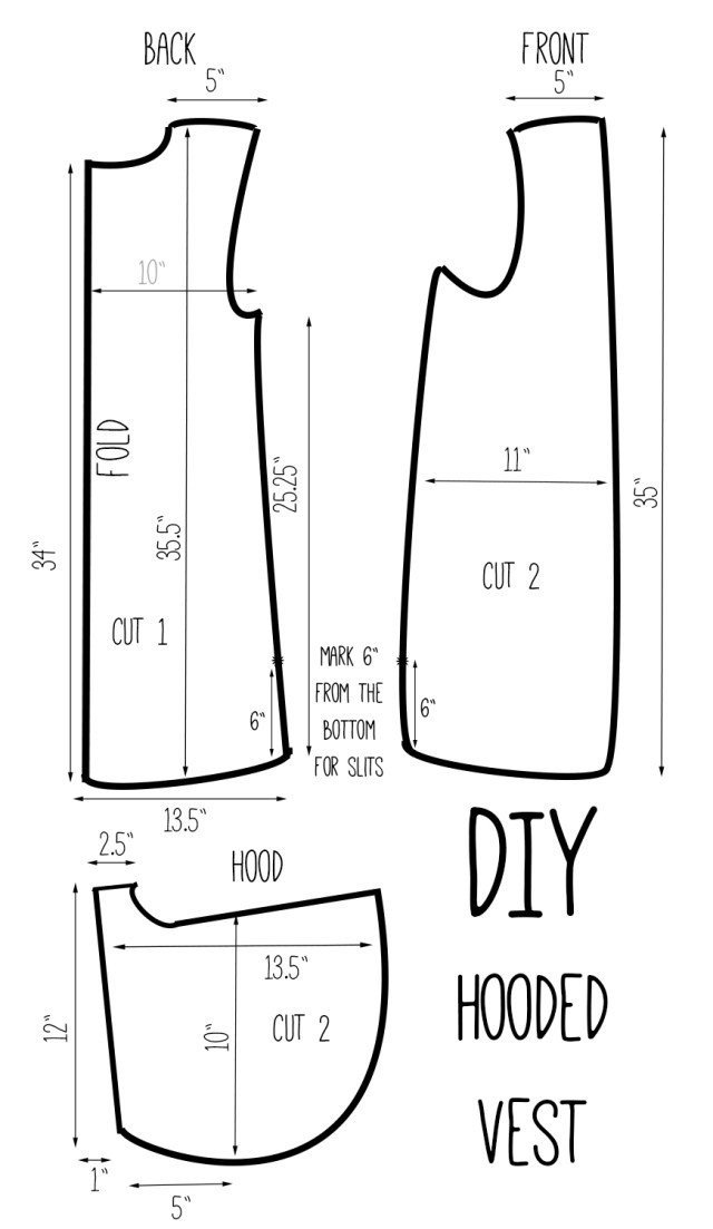 Vest Patterns To Sew Diy Hooded Vest Drafting Pinterest Sewing Sewing Projects I