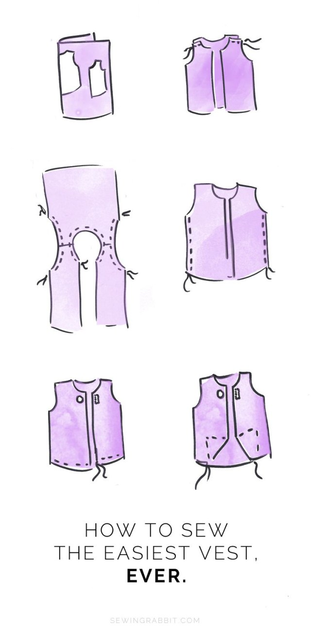Vest Patterns To Sew Easy Womens Vest Sewing Diy Clothes Pinterest Sewing Sewing